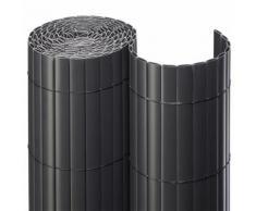 Sichtschutzmatte PVC anthrazit Sichtschutzzaun