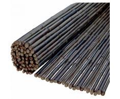 Windhager Sichtschutzmatte Ontake schwarz Bambus 180x180 cm