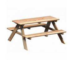 WINNETOO Picknicktisch mit Sitzbank Gartentisch Gartenmöbel, für Kinder