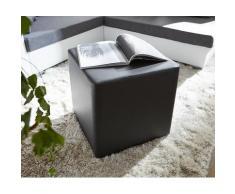 DELIFE Sitzhocker Dado 45x45 cm Schwarz, Sitzhocker / Sitzwürfel