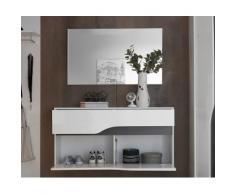 DELIFE Garderobenspiegel Willa 102x60 cm Silber grosse Spiegelfläche, Spiegel