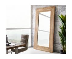 DELIFE Wandspiegel Alban 245x136 cm Natur Exotic Wood, Spiegel