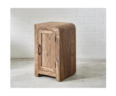 DELIFE Schreibtischcontainer Wally 40x48 cm Sheesham Natur 2 Türen, Kommoden & Schränke