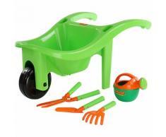 Schubkarre mit Gartengeräten, 5-tlg. grün/orange