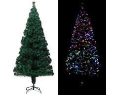 vidaXL Künstlicher Weihnachtsbaum mit Ständer Grün 180 cm Fiberoptik