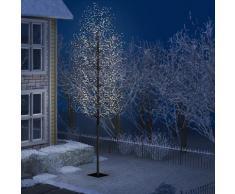 vidaXL Weihnachtsbaum 2000 LEDs Kaltweißes Licht Kirschblüten 500 cm