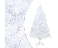 vidaXL Künstlicher Weihnachtsbaum mit Dicken Zweigen Weiß 240 cm PVC