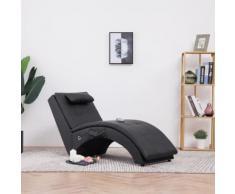 vidaXL Massage Chaiselongue mit Kissen Braun Kunstleder