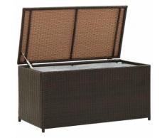 vidaXL Gartenbox Poly Rattan 100×50×50 cm Braun