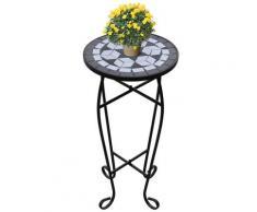 vidaXL MOSAIK Beistelltisch Tisch Bistrotisch Blumenständer Schwarz