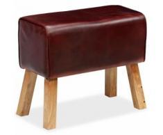 vidaXL Sitzbank Echtes Leder Braun 60 x 30 x 50 cm