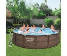 Bestway Power Steel Deluxe Series Swimmingpool-Set Rund 427×107 cm