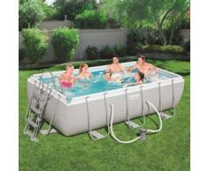 Bestway Power Steel Swimmingpool-Set Rechteckig 404×201×100 cm 56441