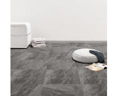 vidaXL PVC Laminat Dielen Selbstklebend 5,11 m² Schwarz mit Muster