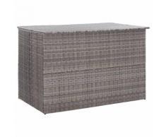 vidaXL Gartenbox Grau 150×100×100 cm Poly Rattan