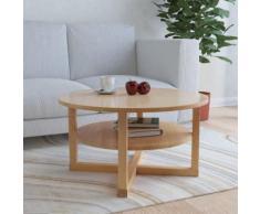 vidaXL Couchtisch 75 x 40 cm Massivholz Eiche