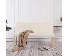 vidaXL Sitzbank 139,5 cm Cremeweiß Kunstleder