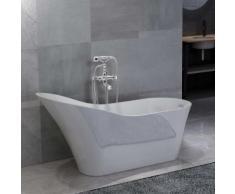 vidaXL Freistehende Badewanne und Wasserhahn 210 L 99,5 cm Silbern