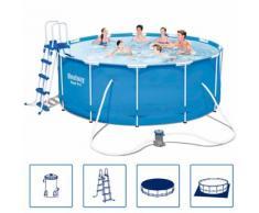 Bestway Steel Pro Swimmingpool-Set Stahlrahmen Rund 366×122 cm 56420