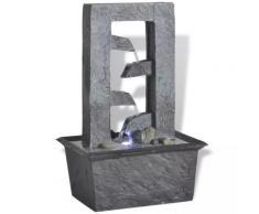 vidaXL Zimmerbrunnen mit LED-Licht Polyresin