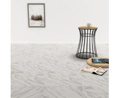 vidaXL PVC Laminat Dielen Selbstklebend 5,11 m² Weißer Marmor