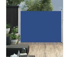 vidaXL Ausziehbare Seitenmarkise 140×500 cm Blau