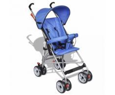 vidaXL Kinderwagen Buggy Sportwagen Babywagen Babyjogger Reisebuggy Blau