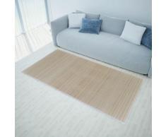 vidaXL Rechteckig Naturfarbener Bambusteppich 200 x 300 cm