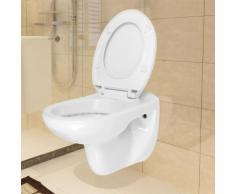 vidaXL Wand-WC mit Absenkautomatik-Sitz Keramik Weiß