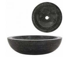 vidaXL Waschbecken 40 x 12 cm Marmor Schwarz