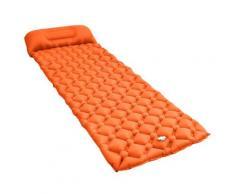 vidaXL Aufblasbare Isomatte mit Kissen 58x190 cm Orange