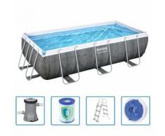 Bestway Swimmingpool-Set Power Steel Rahmen 4×2×1 m