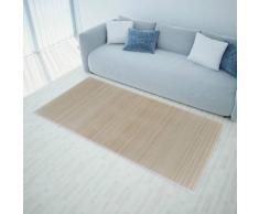 vidaXL Rechteckig Naturfarbener Bambusteppich 150 x 200 cm