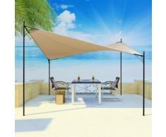 vidaXL Sonnensegel mit Gestell Pavillon 3x3 m