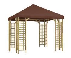 vidaXL Pavillon 3 x 3 m Braun