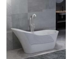 vidaXL Freistehende Badewanne und Wasserhahn 210 L 118,5 cm Silbern