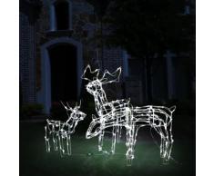 vidaXL 3-tlg. Weihnachtsbeleuchtung Rentiere 229 LEDs