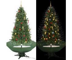 vidaXL Schneiender Weihnachtsbaum mit Schirmfuß Grün 190 cm