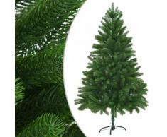 vidaXL Künstlicher Weihnachtsbaum Naturgetreue Nadeln 210 cm Grün
