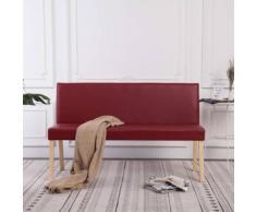 vidaXL Sitzbank 139,5 cm Weinrot Kunstleder