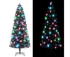 vidaXL Künstlicher Weihnachtsbaum mit Ständer/LED 240 cm Fiberoptik