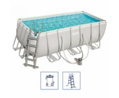 Bestway Power Steel Swimmingpool-Set Rechteckig 412×201×122 cm 56456