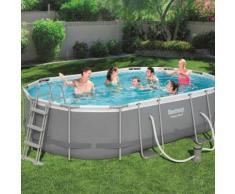 Bestway Power Steel Swimmingpool-Set Oval 488×305×107 cm 56448