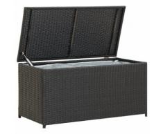vidaXL Gartenbox Poly Rattan 100×50×50 cm Schwarz