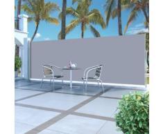 vidaXL Ausziehbare Seitenmarkise 180x500 cm Grau
