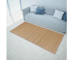 vidaXL Rechteckig Brauner Bambusteppich 80 x 300 cm