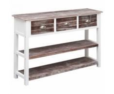 vidaXL Sideboard Antik Braun 115 x 30 x 76 cm Holz