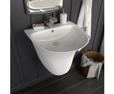 vidaXL Waschbecken zur Wandmontage Keramik Weiß 470×450×370 mm