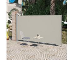 vidaXL Seitenmarkise 160x300 cm Cremeweiß