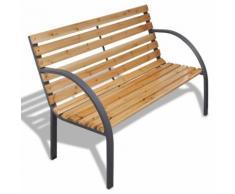 vidaXL Gartenbank 120 cm Holz und Eisen